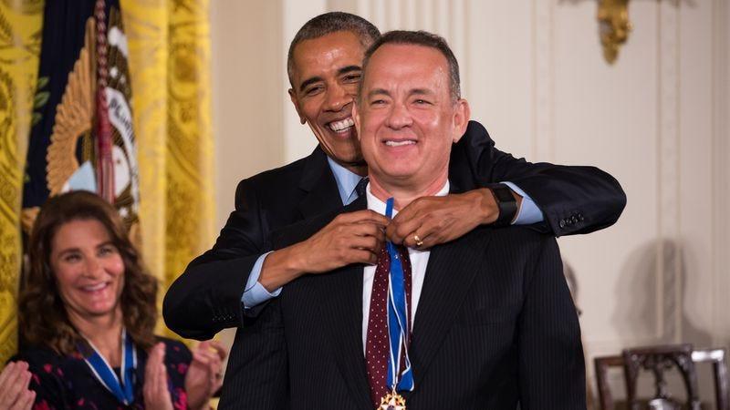 President Obama, Tom Hanks (Photo: Cheriss May/NurPhoto via Getty Images)