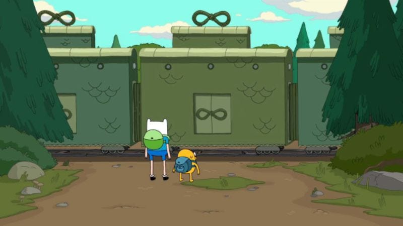 Illustration for article titled Adventure Time tackles train dungeons and blows our minds.