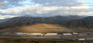 Illustration for article titled This Image of the NSA's Utah Data Center Was Taken From the EFF's Blimp
