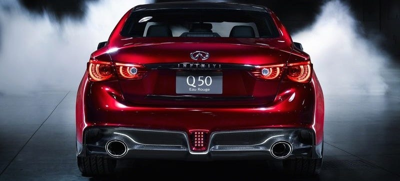 Illustration for article titled Infiniti Says The Q50 Eau Rouge Isn't Planned For Production Yet
