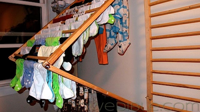 Diy Wall Mounted Folding Clothes Dryer Rack