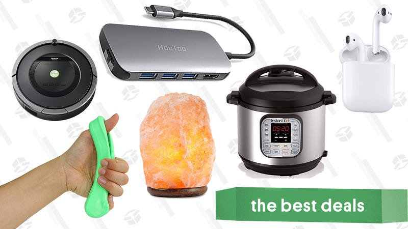 Illustration for article titled Thursday's Best Deals: AirPods, Instant Pot, Fitness Putty, and More