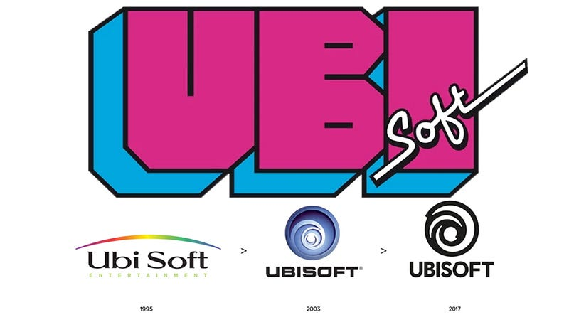 Illustration for article titled Ubisoft's '80s Logo Is Still Their Best