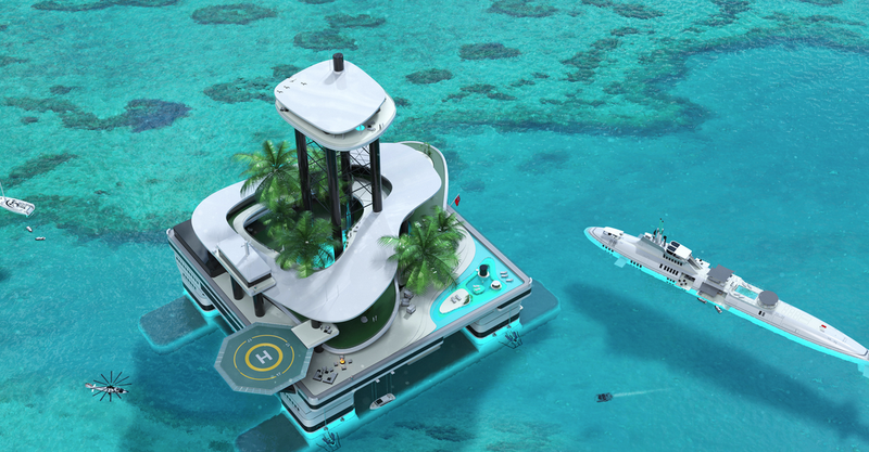 Illustration for article titled This Batshit Crazy Company Wants to Build Mobile Private Islands