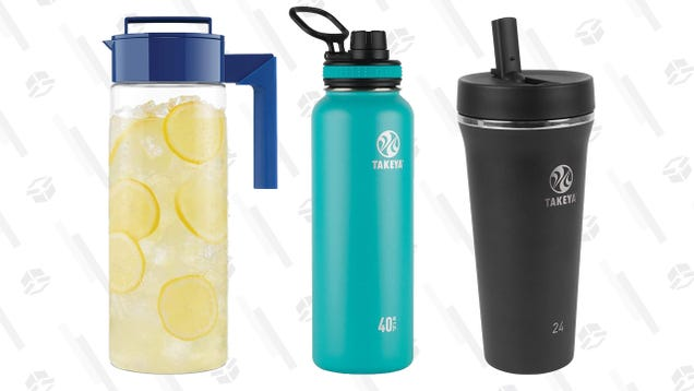Stay Hydrated (or You Will Die) From a Takeya Bottle or Pitcher, Now up To 47% Off