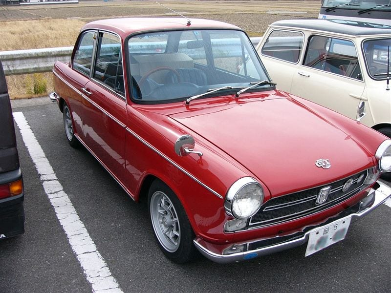 Illustration for article titled Daihatsu Compagno 2-door - 1968