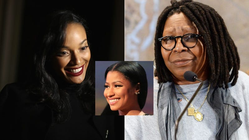 Illustration for article titled Selita Ebanks Is a Mom and Whoopi's a Nosy Neighbor In Nicki Minaj's Family Sitcom