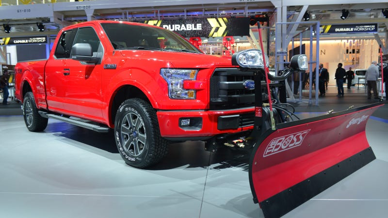 Illustration for article titled 2015 Ford F-150 Claiming To Be First Pickup With A 'Snow Plow' Button