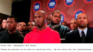 """Illustration for article titled The Website For NBA Players Association Now Reads """"Error 404: Basketball Not Found"""""""