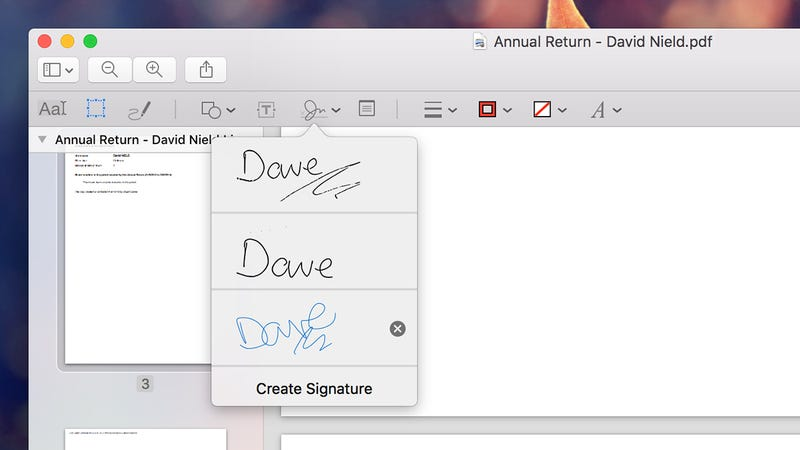 Illustration for article titled Use Preview on a Mac to Add Your Signature to Emails and Documents