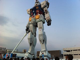 Illustration for article titled Giant Gundam And No Official Parking