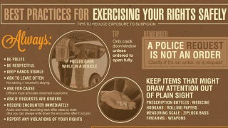 Illustration for article titled This Infographic Shows You How to Answer Police and Avoid Arrest