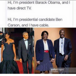 """The meme circulating on social media comparing Michelle Obama, the wife of President Barack Obama, with Lacena """"Candy"""" Carson, the wife of Republican presidential candidate Ben CarsonInstagram"""