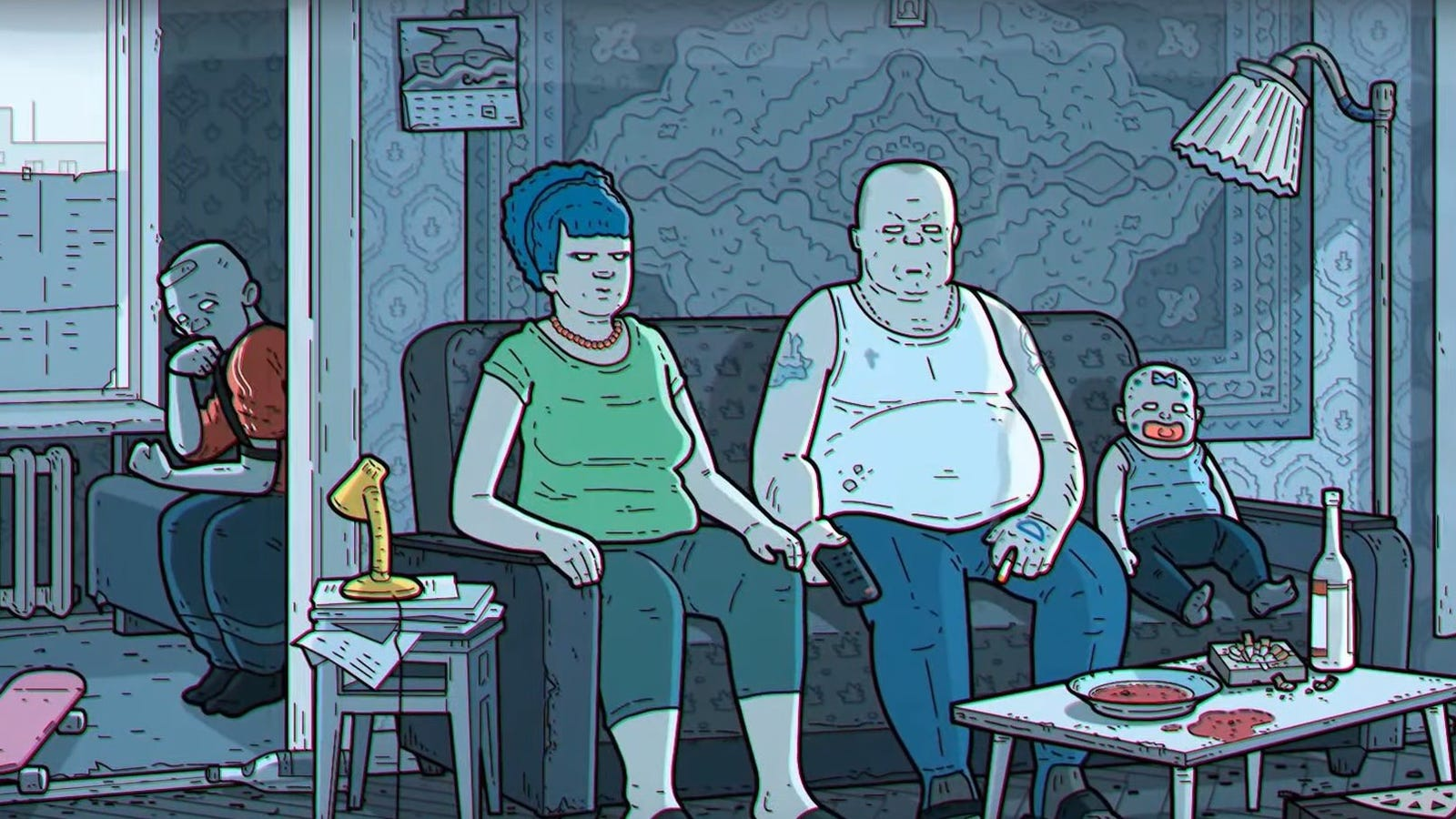 "Embrace cartoon despair with the ""Russian art film"" version of The Simpsons' opening"