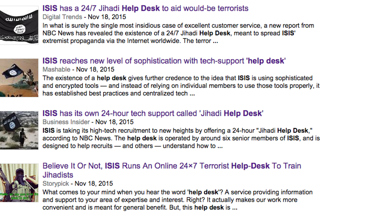 Elegant There Is No 24/7 ISIS Help Desk Good Looking