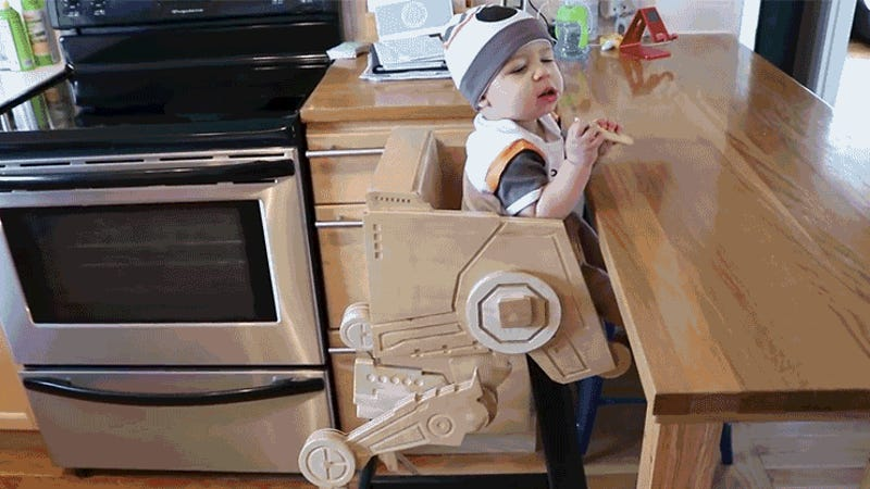I Hope This Kid Appreciates How Awesome His Custom-Made Star Wars AT-ST High Chair Is
