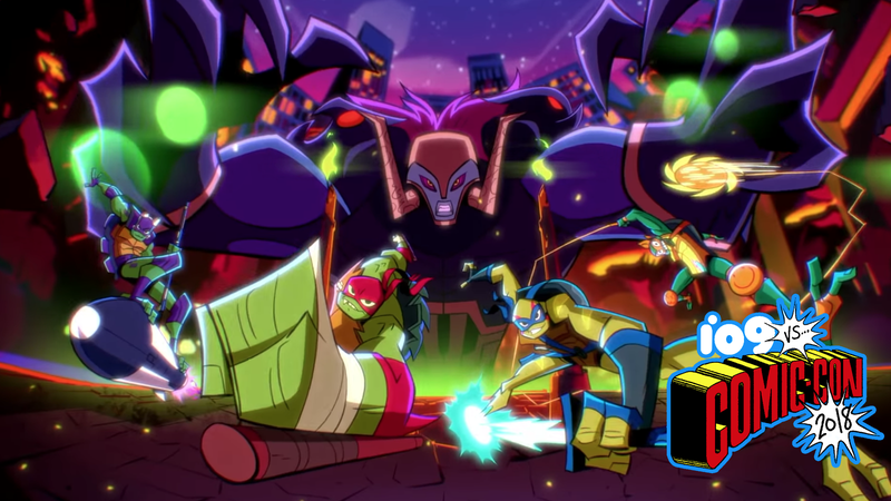 Illustration for article titled Rise of the Teenage Mutant Ninja TurtlesBrings the Mutagenic Fire in Its Comic-Con Trailer