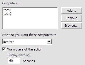 Shutdown or Restart Windows from the Shutdown.exe GUI