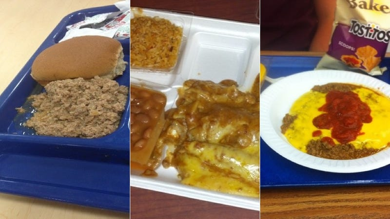 Illustration for article titled These School Lunches Look Like Someone Sharted in a Litter Box