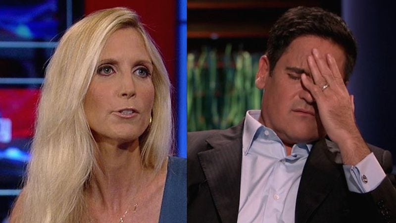 Illustration for article titled Mark Cuban and Ann Coulter to play President and VP in Sharknado 3