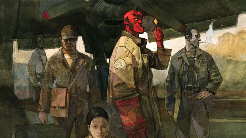 Illustration for article titled Exclusive preview: Hellboy & The B.P.R.D. #1 dives into the Mignolaverse's past