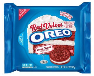 Illustration for article titled A limited edition of Red Velvet Cake Oreo will arrive on February 2