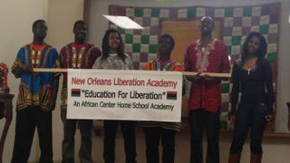 Students at a fundraiser for Liberation Academy in New Orleans on March 14, 2014. Some of the students who led protests over the district's Collegiate Academy charter schools withdrew from those schools and enrolled in Liberation Academy, founded by parents and local activists.Jordan Flaherty