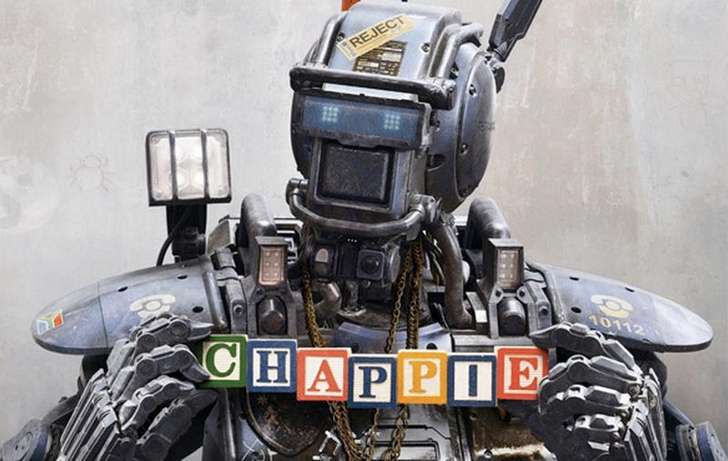 Illustration for article titled Neill Blomkamp's Robot Chappie Is Super Happy, Has A Gun