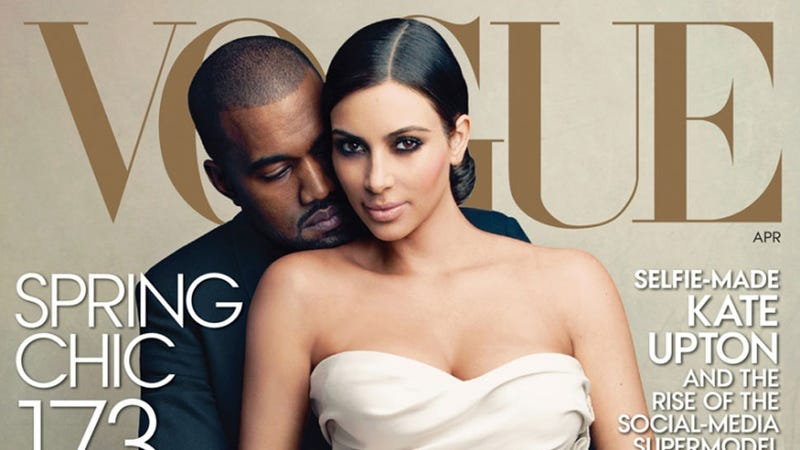 Illustration for article titled Here's Kim & Kanye's Vogue Cover