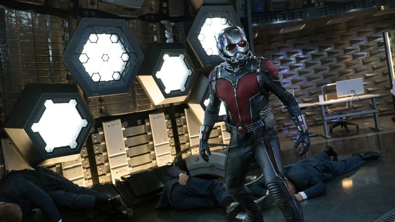 Illustration for article titled Ant-Man builds a smaller, lighter Marvel movie