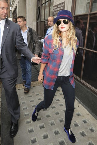 Illustration for article titled Drew Barrymore Is Caught While Attempting To Flee