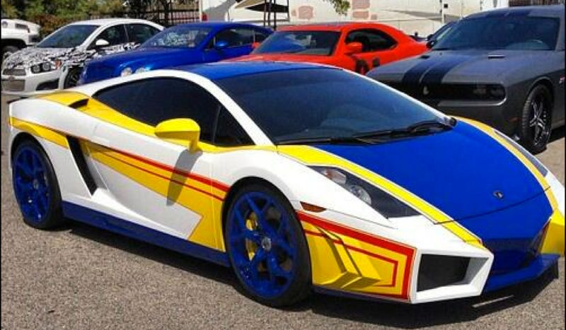 i dont particularly like him at all but what i do like is what hes done to his lamborghini its like a really big hot wheels - Real Hot Wheels Cars