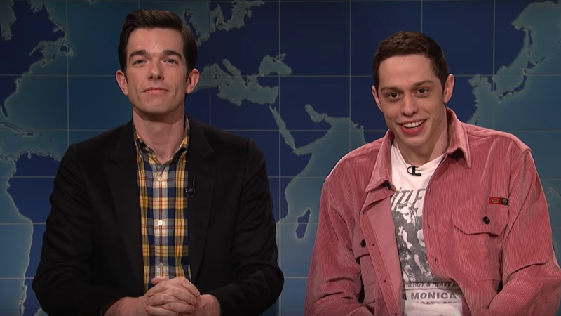 Illustration for article titled Pete Davidson Jokes About The Mule and His 'Crazy Month' Alongside John Mulaney on SNL