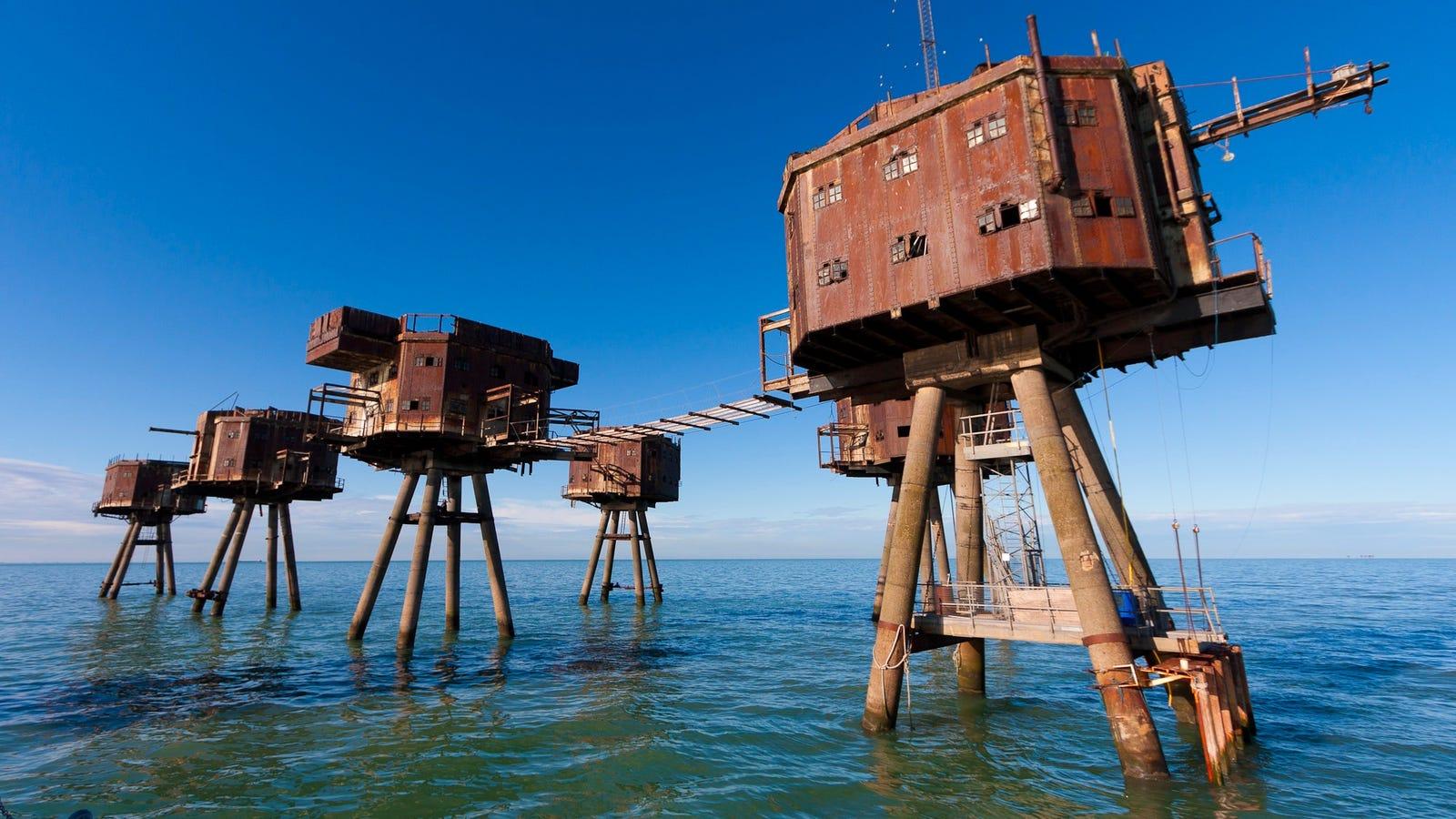 Las increíbles fortalezas marinas del ejército británico