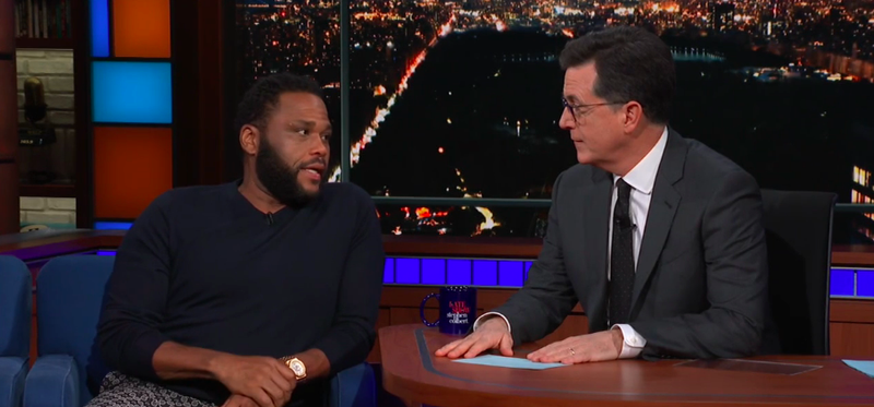 Anthony Anderson, Stephen Colbert