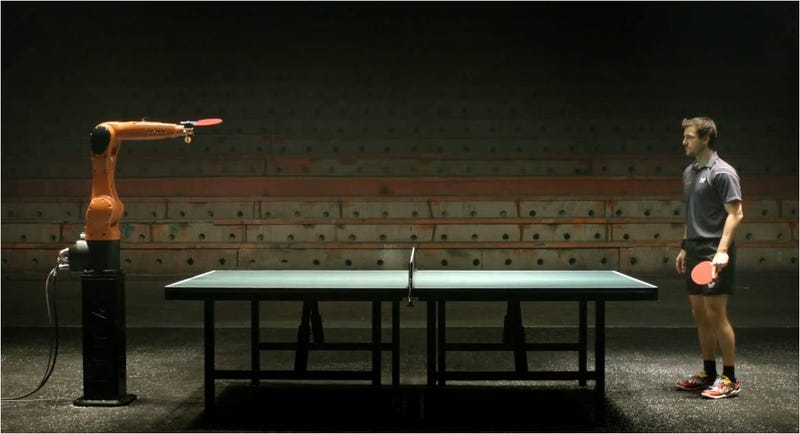 Illustration for article titled Los robots aún no nos pueden ganar al ping-pong
