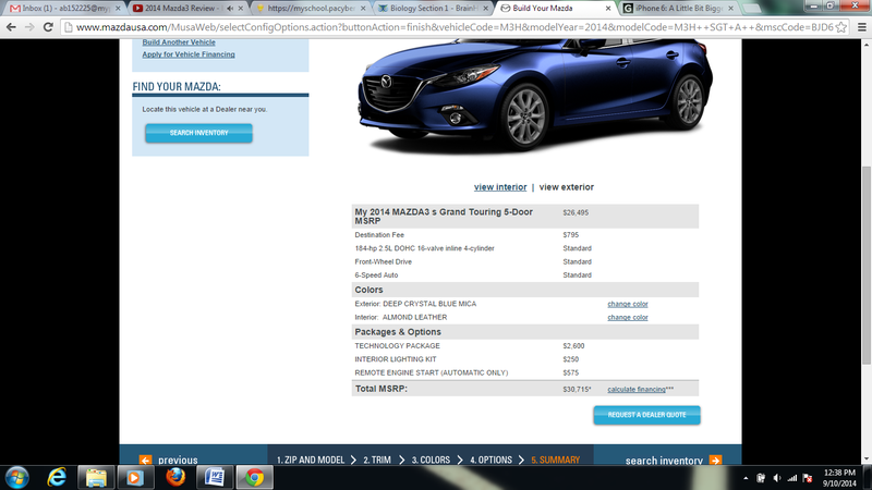 Illustration for article titled The Mazda 3 gets expensive.