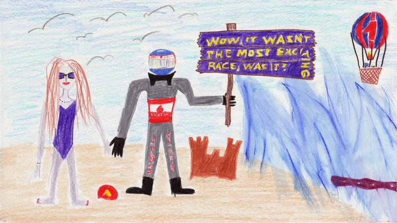 Illustration for article titled The 2011 European Grand Prix in Crayola