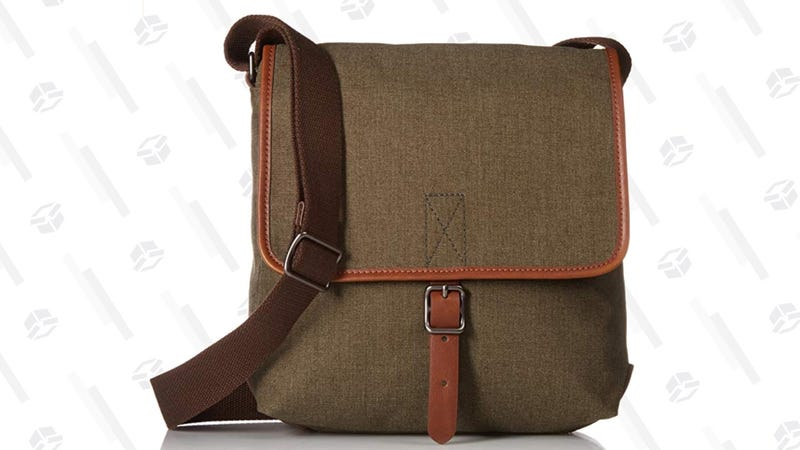 Fossil Men's City Bag (Olive/Brown) | $52 | Amazon
