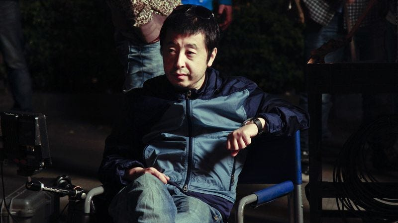Jia Zhangke on set. (Photo: Kino Lorber)