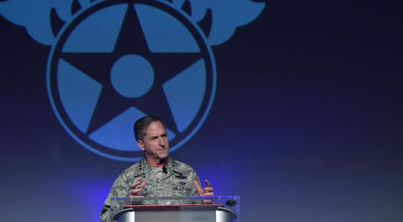 US Air Force Chief of Staff General David L. Goldfein speaking at the Air Warfare Symposium on February 23.