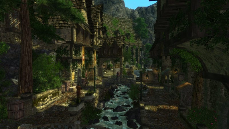 """Pictured: A town in the Skyrim mod """"Enderal"""" which is basically an entirely new game built using Skyrim's modding tools."""
