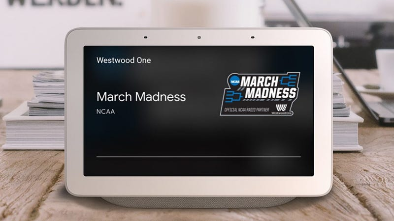 Illustration for article titled Listen to All March Madness Games Live With Google Home and Google Assistant