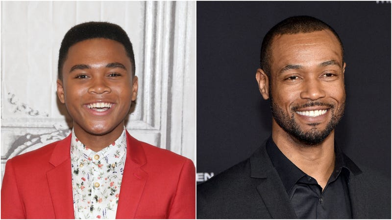 Chosen Jacobs (L) and Isaiah Mustafa (R), IT's teenage and adult Mike Hanlons