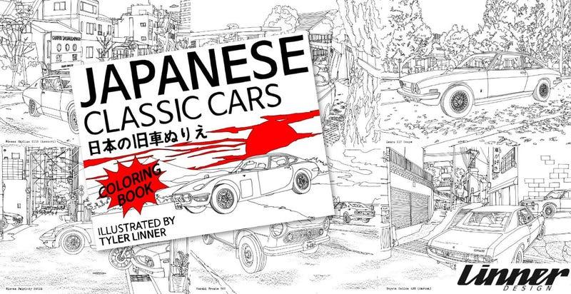 Livro De Colorir Para Carros Classicos Japoneses