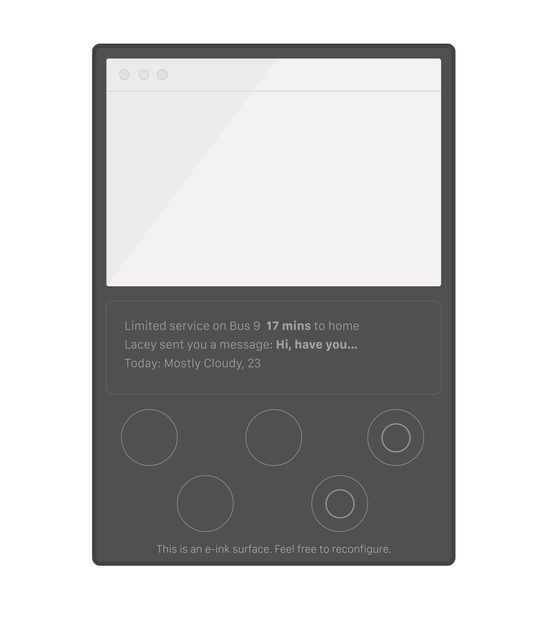 Illustration for article titled Phablet - LCD in an E-ink surface