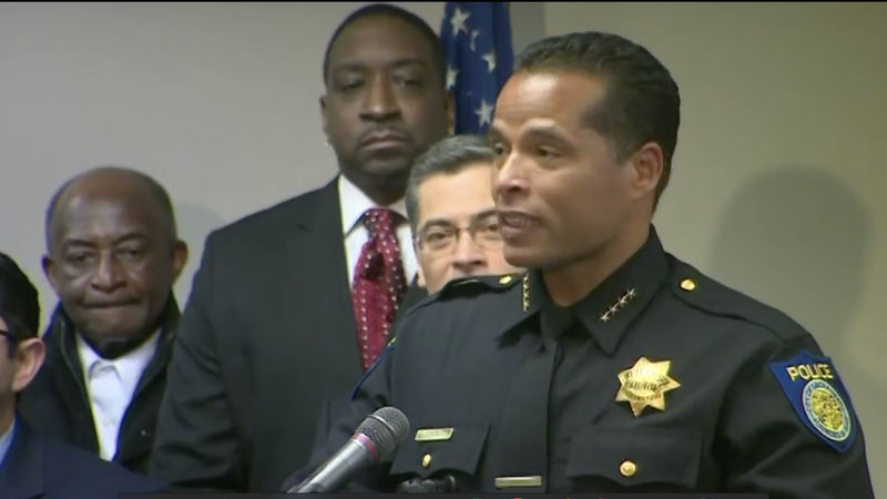 Sacramento, Calif., Police Chief Daniel Hahn addresses the press at a news conference on March 27, 2018.