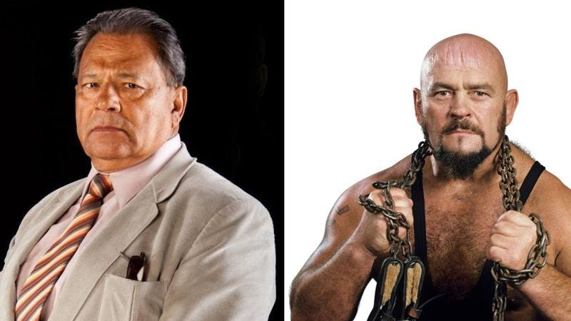 "Chavo Guerrero, Sr., and Ivan ""The Russian Bear"" Koloff, both of whom died this week. (Images: WWE.com)"