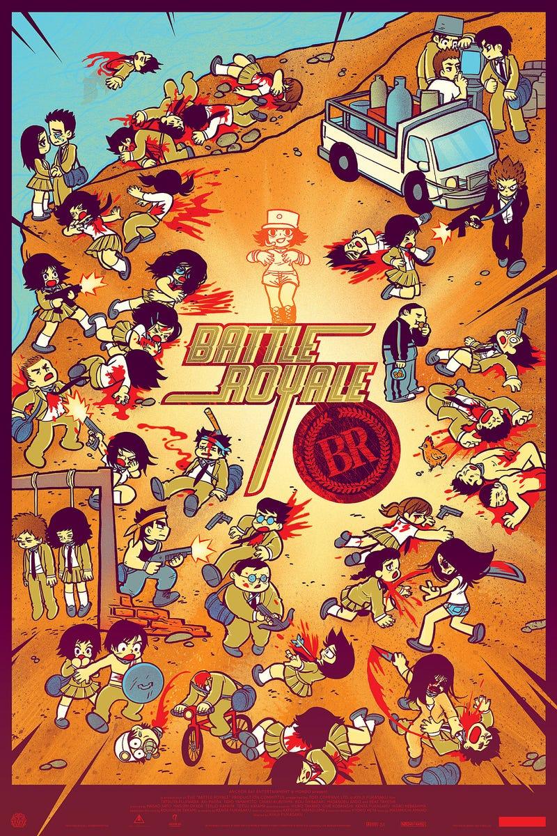 Illustration for article titled Scott Pilgrim artist kills all the kids in this Battle Royale poster