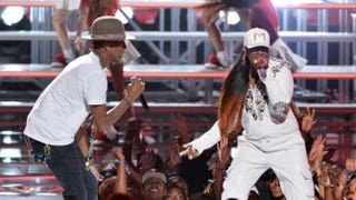 Pharrell Williams and Missy Elliott perform at the 2014 BET Awards.Twitter